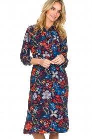 Essentiel Antwerp |  Floral dress Sabaton | blue  | Picture 2