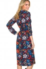 Essentiel Antwerp |  Floral dress Sabaton | blue  | Picture 5