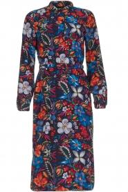 Essentiel Antwerp |  Floral dress Sabaton | blue  | Picture 1