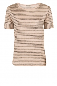 Ruby Tuesday | Linnen T-shirt Berber | roze  | Afbeelding 1
