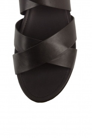 What For   Leren sandalen Aya   zwart    Afbeelding 6