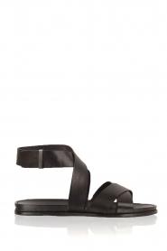 What For   Leren sandalen Aya   zwart    Afbeelding 1