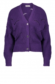 Aaiko    Knitted cardigan with buttons Aria   purple    Picture 1