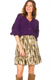 Aaiko    Knitted cardigan with buttons Aria   purple    Picture 2