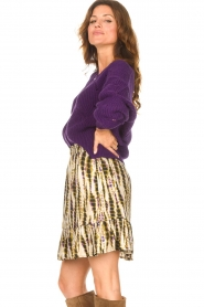 Aaiko    Knitted cardigan with buttons Aria   purple    Picture 6