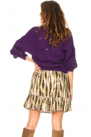 Aaiko    Knitted cardigan with buttons Aria   purple    Picture 7