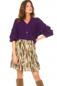 Aaiko    Knitted cardigan with buttons Aria   purple    Picture 4
