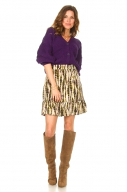Aaiko    Knitted cardigan with buttons Aria   purple    Picture 3