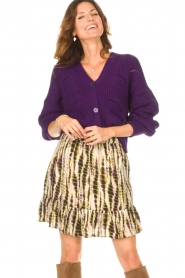 Aaiko    Knitted cardigan with buttons Aria   purple    Picture 5