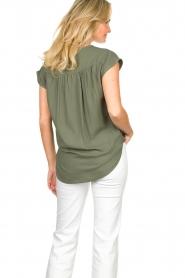 Louizon |  V-neck blouse Ele | green  | Picture 6