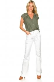 Louizon |  V-neck blouse Ele | green  | Picture 3