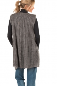 Ruby Tuesday |  Woolen waistcoat Hasina | dark grey  | Picture 5