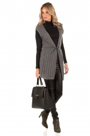 Ruby Tuesday |  Woolen waistcoat Hasina | dark grey  | Picture 6