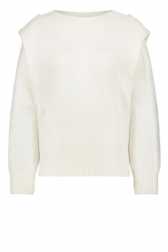 Aaiko |  Sweater with shoulder details Mischa | natural  | Picture 1