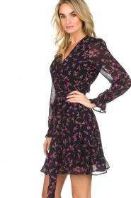 Essentiel Antwerp |  Floral wrap dress Smeagol | black  | Picture 5