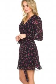 Essentiel Antwerp |  Floral wrap dress Smeagol | black  | Picture 6