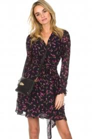Essentiel Antwerp |  Floral wrap dress Smeagol | black  | Picture 2