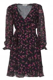 Essentiel Antwerp |  Floral wrap dress Smeagol | black  | Picture 1