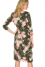 Essentiel Antwerp |  Floral dress Soulja | green   | Picture 6