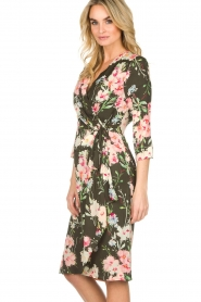 Essentiel Antwerp |  Floral dress Soulja | green   | Picture 5