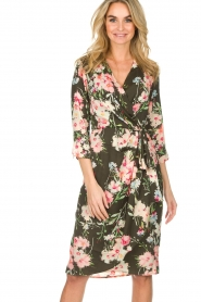 Essentiel Antwerp |  Floral dress Soulja | green   | Picture 2