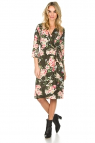 Essentiel Antwerp |  Floral dress Soulja | green   | Picture 3