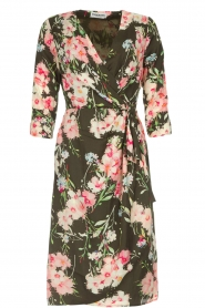 Essentiel Antwerp |  Floral dress Soulja | green   | Picture 1
