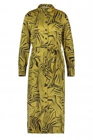 Aaiko | Midi-jurk met print Palma | groen  | Afbeelding 1