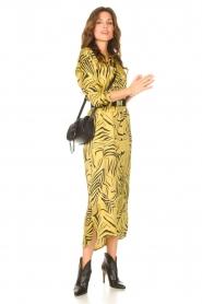 Aaiko | Midi-jurk met print Palma | groen  | Afbeelding 3