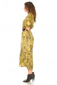 Aaiko | Midi-jurk met print Palma | groen  | Afbeelding 5