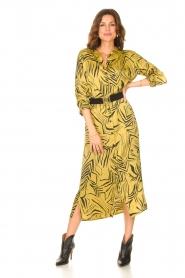 Aaiko | Midi-jurk met print Palma | groen  | Afbeelding 4