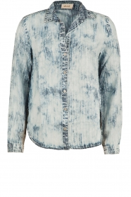 Bella Dahl | Bleached denim blouse Tulip | blauw   | Afbeelding 1