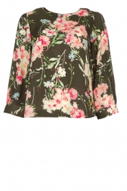 Essentiel Antwerp |  Floral top Saadiq | green  | Picture 1