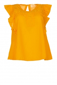 Louizon |  Top with embroidered details Joigne | yellow  | Picture 1