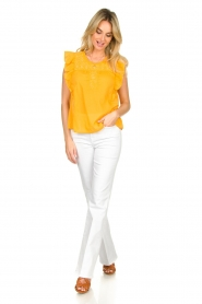 Louizon |  Top with embroidered details Joigne | yellow  | Picture 3