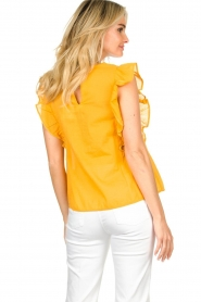 Louizon |  Top with embroidered details Joigne | yellow  | Picture 5