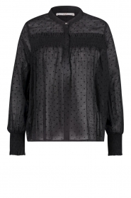 Aaiko |  Sheer dotted blouse Fian | black  | Picture 1