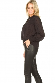Aaiko |  Sheer dotted blouse Fian | black  | Picture 6