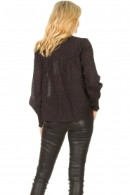 Aaiko |  Sheer dotted blouse Fian | black  | Picture 7