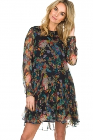 Essentiel Antwerp |  Floral dress Shambles | black   | Picture 4