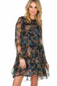 Essentiel Antwerp |  Floral dress Shambles | black   | Picture 2