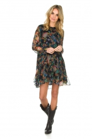 Essentiel Antwerp |  Floral dress Shambles | black   | Picture 3