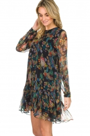 Essentiel Antwerp |  Floral dress Shambles | black   | Picture 5