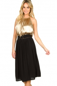 Louizon |  Midi skirt Dolan | black  | Picture 2
