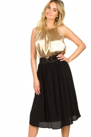 Louizon |  Midi skirt Dolan | black  | Picture 5