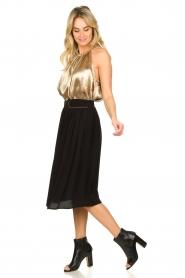 Louizon |  Midi skirt Dolan | black  | Picture 3