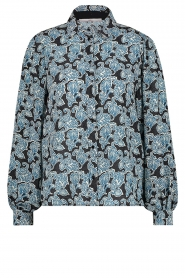 Aaiko |  Blouse with paisley print Pillar | blue  | Picture 1