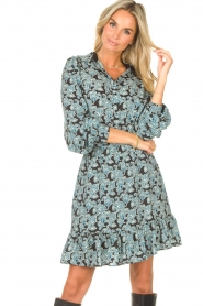 Aaiko |  Blouse with paisley print Pillar | blue  | Picture 4