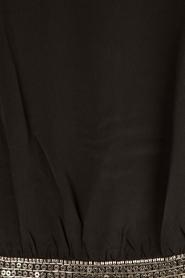 IKKS | Zijden pussybow blouse Lucille | zwart  | Afbeelding 6