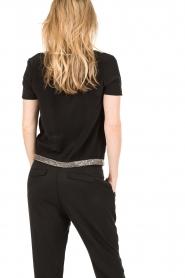 IKKS | Zijden pussybow blouse Lucille | zwart  | Afbeelding 5